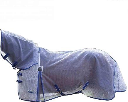 WEATHERBEETA COMFITEC RIPSHIELD Plus Combo Neck White/Blue 7'0 Horse Rug
