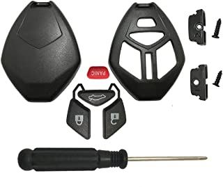 Horande Keyless Entry Remote Key Fob Case fits for Mitsubishi Eclipse Galant Lancer Outlander Replacement Key Fob Shell Blank Cover