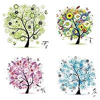 Proumhangクロスステッチ刺繍キット手作り DIY 新品 45cm x 45cm 生命の木ー四季フルセット