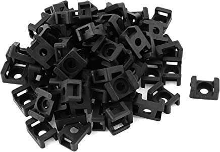 9mm Width Cable Zip Tie Mount Base Saddle Type Wire Holder 80Pcs