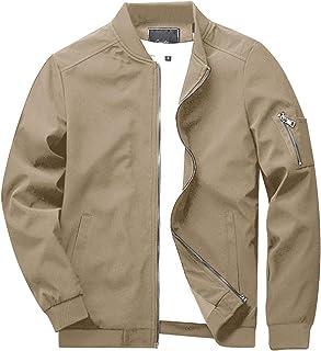 KEFITEVD Men's Summer Thin Baseball Jackets Casual Bomber Cargo Jacket Military Windbreaker with Multi Pockets