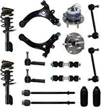 Detroit Axle - Complete 16-Piece Front Suspension Kit - 10-Year Warranty- Front: 2 Strut Assemblies, 2 Wheel Bearings, 2 Control Arms & Ball Joints, 4 Tie Rod Ends, 4 Sway Bar Links, 2 Tie Rod Boots…