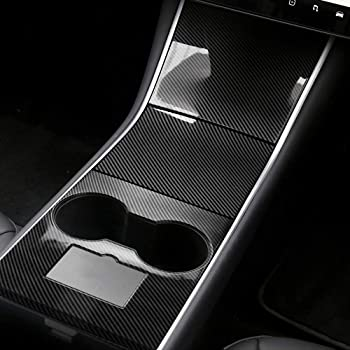 CoolKo Custom Fit Center Console Side Trim Strips Edge Compatible with Model 3 /& Y with White Pearl Pattern 2 Pieces