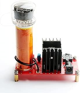 DIKAVS DC 15-24V 15W Mini Music Tesla Coil Plasma Speaker Loudspeaker Tesla Wireless Transmission DIY Kits(red PCB)
