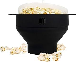 MMUGOOLER Original Microwave Popcorn Popper, Silicone Popcorn Maker, Collapsible Bowl BPA Free and Dishwasher Safe,Quick &...