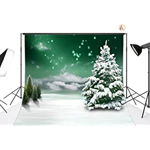 Zhy 5x7ft Christmas Poly Fabric Customized Photography Backdrop Background Studio Prop GSD39
