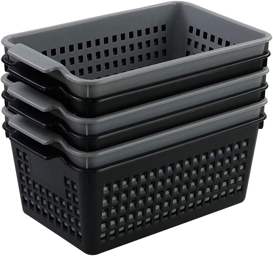 store Qqbine Small and Higher Storage for Basket Black Finally popular brand Drawer Office