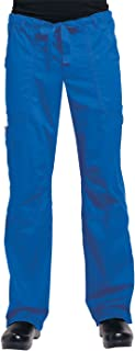 KOI James Elastic Men's Scrub Pants with Zip Fly and Drawstring Waist