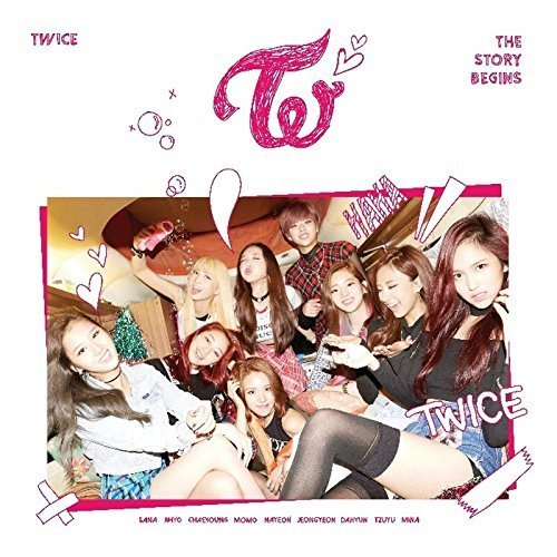 JYP Entertainment Twice - The Story Begins (1st Mini Album) CD+36p Photobook+Garland+1Unit Card+1Red Card+1Pink Card+Folded Poster+Double Side Extra Photocards Set
