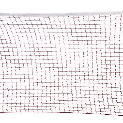 Yinuoday Badminton-Netz, 6 m, tragbar, Outdoor-Badminton-Ersatznetz mit Seilen, für Garten, Schule, Strand