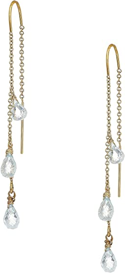 Dee Berkley - 3 Stone Drop Earrings