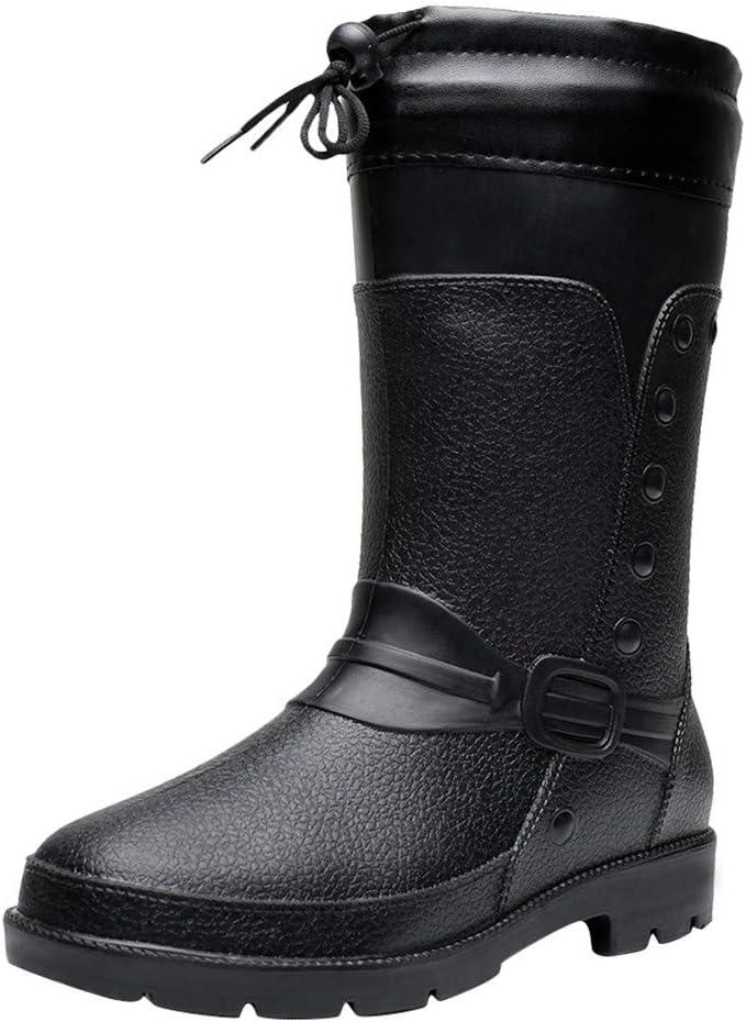 Armfre Mens Hunter Tall Rain Outstanding Boots Lined Snow Boo depot Drawstring Fur