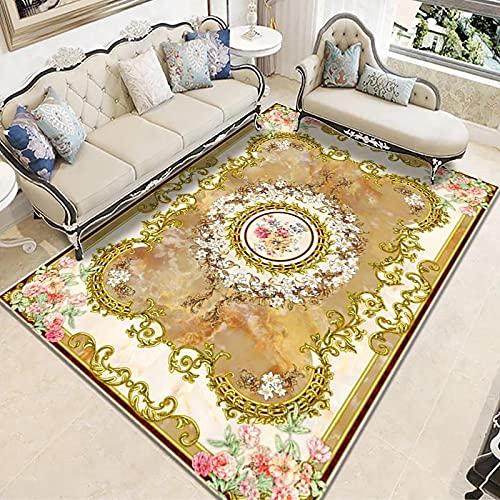 Retro Large Carpet Home Simple Living Room Sofa Cushion Bedroom Blanket Rectangular Floor Mat Non-Slip Thick Washable Material