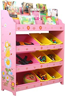 KANGJIABAOBAO Toy Storage Box Kids Toy Storage Organizer Bins For Organizing Toy Storage Baby Toys Kids Toys Dog Toys Baby Clothing Childrens Toy Box  Color Pink  Size Free size