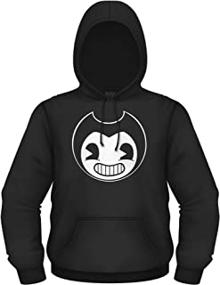 Bendy and the Ink Machine Hoodie - Official Bendy Sweatshirt - Black and White Bendy Mens Hoody