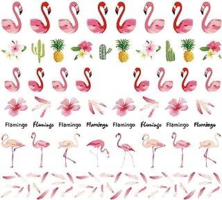 Aosheng Multiple PCS New Design Flamingo Nail Art Stickers Easy DIY Style Multiple Colours