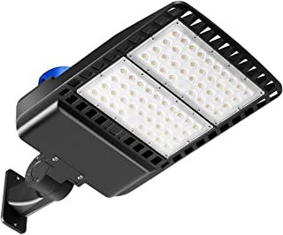 150W LED Parking Lot Light Photocell, 19500LM LED Flood Barn Yard Wall Lights, 5000K 450W Equivalent MH/HPS Replacement, Dusk to Dawn LED Outdoor Lighting for Backyards Area Street Porch Lights, IP65