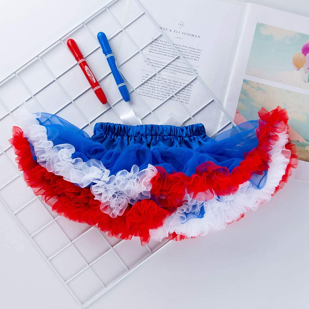 Toddler Baby Girls Independence Day Letter Print Romper+Tutu Skirt+Shoes+Headband 4pc Outfit Set for 0-2 Years