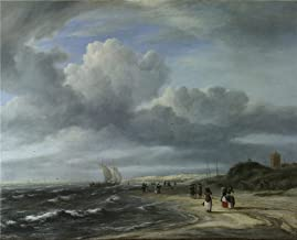 'Jacob Van Ruisdael The Shore At Egmond Aan Zee ' Oil Painting, 8 X 10 Inch / 20 X 25 Cm ,printed On Perfect Effect Canvas ,this Cheap But Art Decorative Art Decorative Canvas Prints Is Perfectly Suitalbe For Gym Artwork And Home Decoration And Gifts