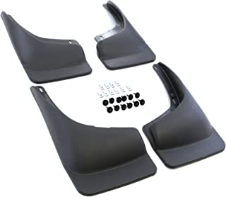 Red Hound Auto Compatible with Chevrolet GMC Silverado Sierra 1500 2500 3500 (1999-2006) Mud Flaps Splash Guards Front and Rear Molded 4pc Full Set (for Vehicles Without Fender Flares)