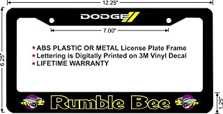 Dodge RAM Rumble BEE Custom License Plate Frame (Metal Frame, Qty 1)