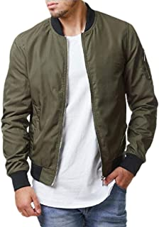 Macondoo Mens Juniors Military Coat Bomber Outdoor Baseball Collar Jackets