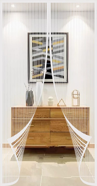 Cortina Mosquitera Puerta Magnetica - 65x200cm - Blanco - Mantenga el aire fresco y evite los insectos - entrada manos libres, Mosquitera Ventana Magnetica - Malla mosquitera para puerta o ventana