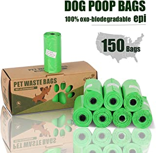 MICRORANGE Compostable Dog Poop Bags,8/10 Rolls 120/150 Count Eco-Friendly Waste Bags for Dog and Cat,Each Strong Biodegradable Dog Waste Bags Measures 9x14 Inches