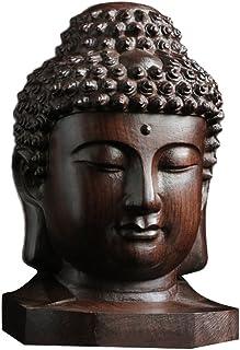 ADELALILI Statua di Buddha Intaglio del Legno di Buddha Statua di Buddha Sankai Mini Buddha Amida Suprema Nyorai Kannon Santuario Mamoru Honjo Figurine Prega Male Era 12