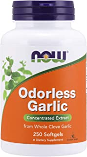 NOW Supplements, Odorless Garlic (Allium sativum), Concentrated Extract, 250 Softgels