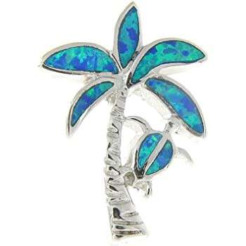 925 Sterling silver Hawaiian large manta ray blue synthetic opal slider pendant Arthur/'s Jewelry 050-31-02
