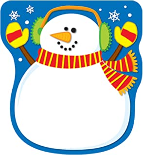 Carson Dellosa Education Acid Free Lignin Free Paper Snowman Notepad, 5.75-inch x 6.25-inch, 50 Sheets