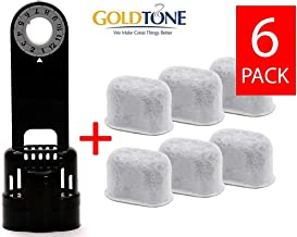 GoldTone Brand 6 Carbon Water Filters + Water Filter Holder. Replaces your Keurig 1.0 Filter Holder + Keurig Charcoal Water Filter & Breville Carbon Water Filter + Breville Filter Holder