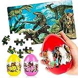 Uping Puzzles de Madera Puzzles Infantiles Rompecabezas de Madera 3 Años-8 Años, Dinosaurios Juguetes Juego de Regalo Educativo para Niños 60 Piezas 3 Paquetes