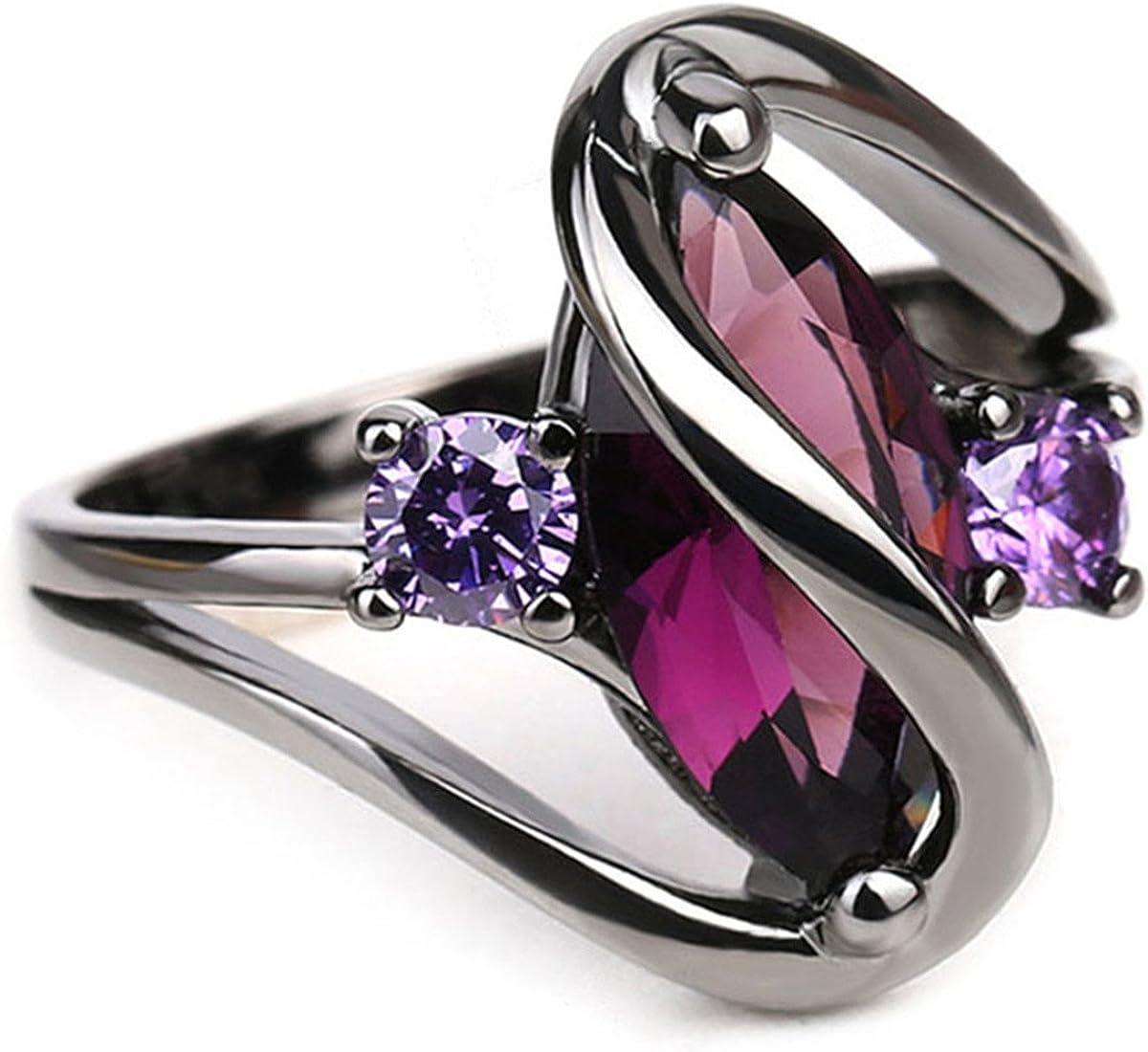 ECYC Trendy Engagement Wedding Rings Women Eye Black Deluxe Go Horse Cz famous