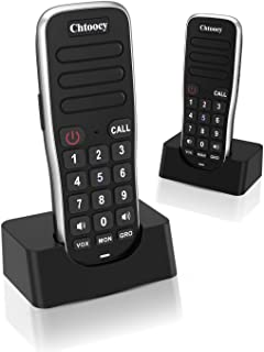 Chtoocy Rechargeable Intercoms Wireless for Home 1 Mile Range 10 Channel, Handheld Wireless Intercom System for Home Busin...