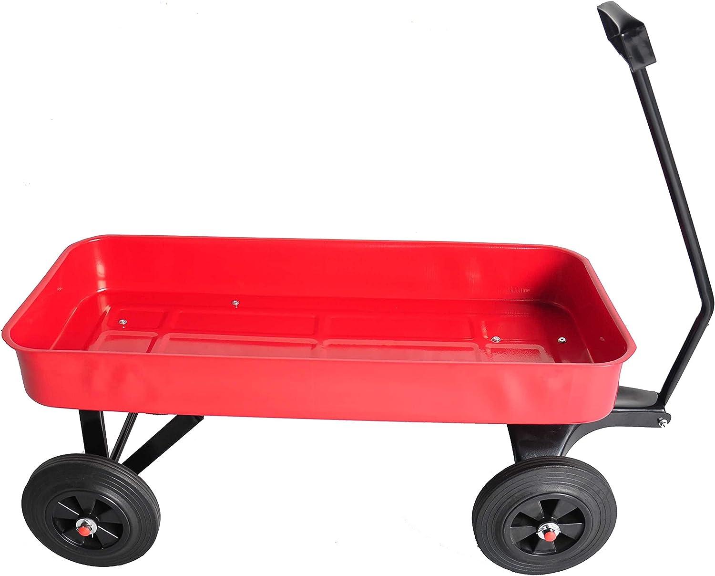 ZeHuoGe Original Classic Red Wagon Steel Surprise price Body Popular brand Al Outdoor Utility