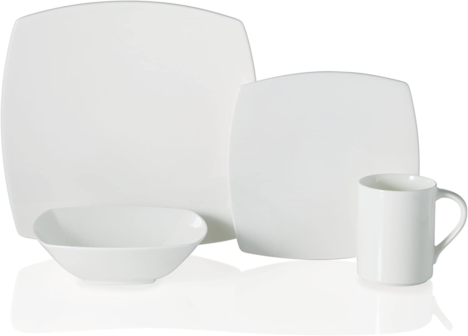 Mikasa Elegance White 4-Piece Place Setting, Service for 1