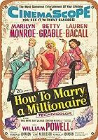 ミリオネアのメタルサインと結婚する方法レトロな壁の装飾ティンサインバー、カフェ、家の装飾