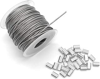 BeMatik Cable de Acero Inoxidable de 3,0 mm en Bobina de 100 m