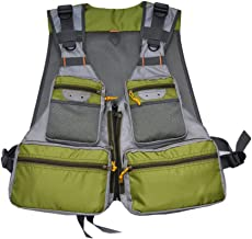 Chaleco de pesca deMdstop, chaleco con muchos bolsillos para exterior, deporte, safari, caza, pesca con mosca y camping