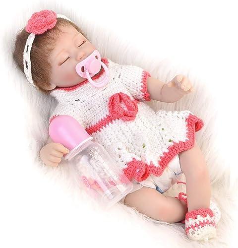 MCCW Wiedergeburt Puppe geschlossene Augen Simulation Baby-Puzzle-Puzzle-Puzzle-Geschenk 43 cm