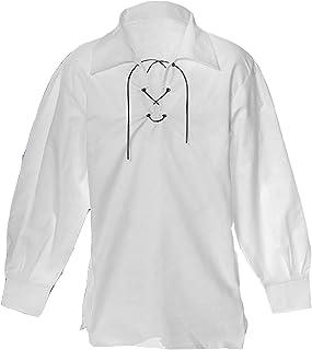 White Jecobite Traditional Ghillie Kilt Shirt