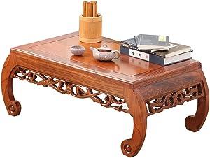 Tavolini da caffè Tavolino in Legno Massello Antico Intagliato Tavolino Basso da Salotto Tavolo da tè Tavolo Portatile Tavolo da Balcone Tavolo da Pranzo