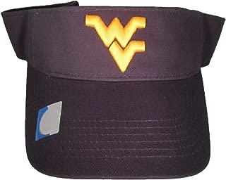 Collegiate Headwear West Virginia Mountaineers Visor. Navy Blue