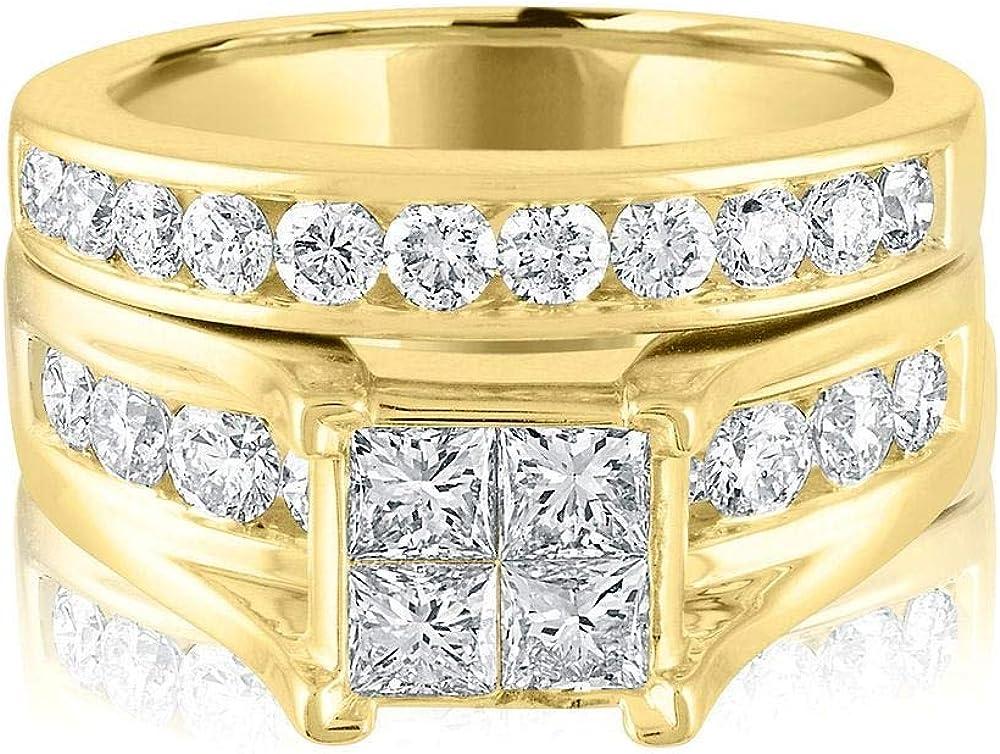 San Jose Mall MOTIEL 1 ct.Engagement Ring Set in Rose 10K New Free Shipping Gold 14k Yellow 18K