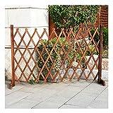 WXQIANG Valla de Madera for jardín de Flores de Reparto telescópica piquete Esgrima Soporte for Mascotas barandilla de protección, 4 tamaños (Color : 1PC, Size : 200X65CM)