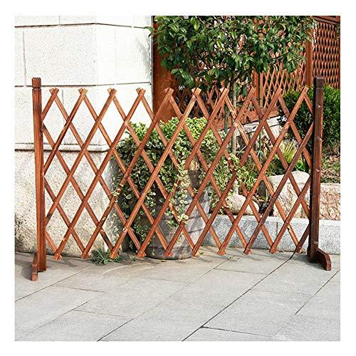 WXQIANG Gartenzaun aus Holz Teleskop Picket Fencing Partition Flower Stand Haustier schütz Geländer, 4 Größen (Color : 3PCS, Size : 200X98CM)