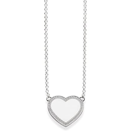 Thomas Sabo Women-Necklace 925 Sterling Silver Zirconia white Length from 38 to 42 cm KE1479-051-14-L42v