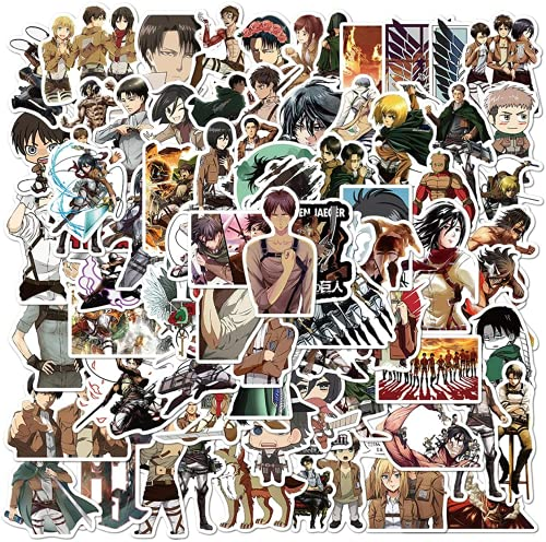 Attack on Titan Stickers, Cool Anime Stickers for Teens Adults, Trendy Game Sticker Decals, Vinyl Waterproof Graffiti Stickers Decals for Snowboard,Laptop,Guitar,Suitable for DIY Decoration(100PCS)
